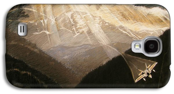 Sun Rays Drawings Galaxy S4 Cases - Pikes Peak Flight Galaxy S4 Case by Nils Beasley