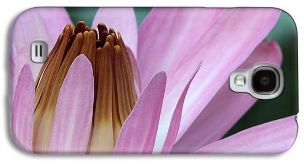 Nature Center Pond Galaxy S4 Cases - Pink Water Lily Macro Galaxy S4 Case by Sabrina L Ryan