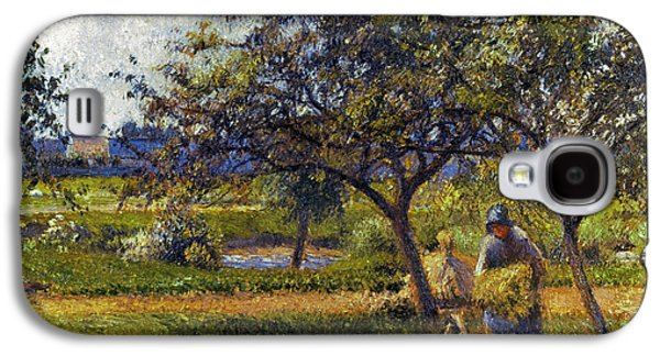 Farmers Field Galaxy S4 Cases - Pissarro: Wheelbarr., 1881 Galaxy S4 Case by Granger