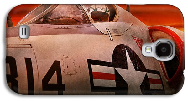Jet Star Photographs Galaxy S4 Cases - Plane - Pilot - Airforce - Go get em Tiger  Galaxy S4 Case by Mike Savad