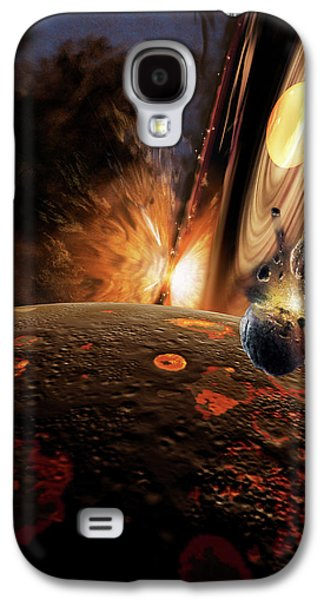 Astronomy Paintings Galaxy S4 Cases - Planet Formation Galaxy S4 Case by Don Dixon