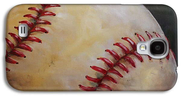 Red Sox Paintings Galaxy S4 Cases - Play Ball No. 2 Galaxy S4 Case by Kristine Kainer