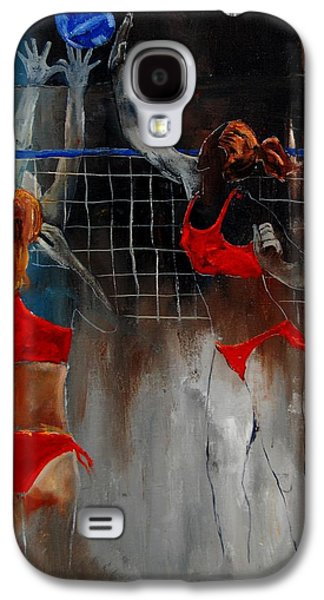 Volley Galaxy S4 Cases - Playing Volley Galaxy S4 Case by Pol Ledent