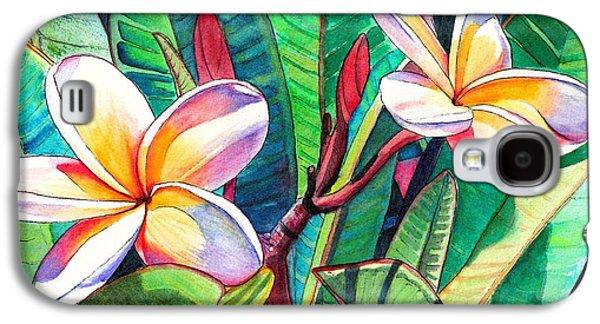 Island Galaxy S4 Cases - Plumeria Garden Galaxy S4 Case by Marionette Taboniar