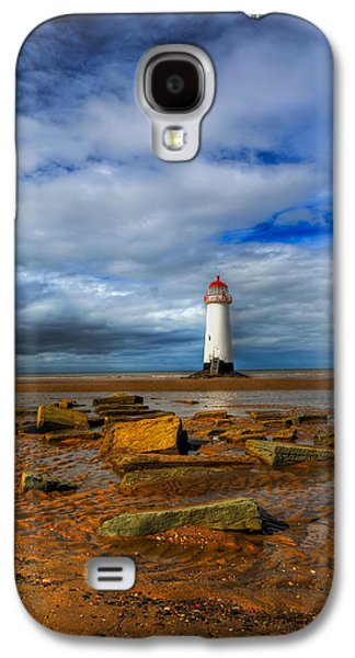 Beach Landscape Galaxy S4 Cases - Point Of Ayr Beach Galaxy S4 Case by Adrian Evans