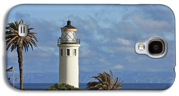 Coast Highway One Galaxy S4 Cases - Point Vicente Lighthouse on the cliffs of Palos Verdes California Galaxy S4 Case by Christine Till