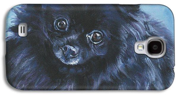 Puppies Galaxy S4 Cases - Pomeranian black Galaxy S4 Case by Lee Ann Shepard