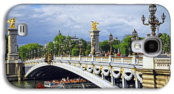 Landmarks Photographs Galaxy S4 Cases - Pont Alexander III Galaxy S4 Case by Elena Elisseeva