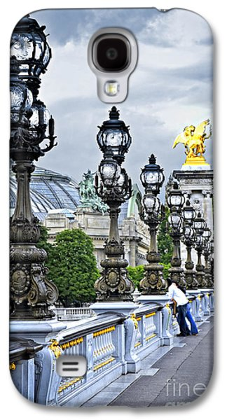 Landmarks Photographs Galaxy S4 Cases - Pont Alexander III in Paris Galaxy S4 Case by Elena Elisseeva