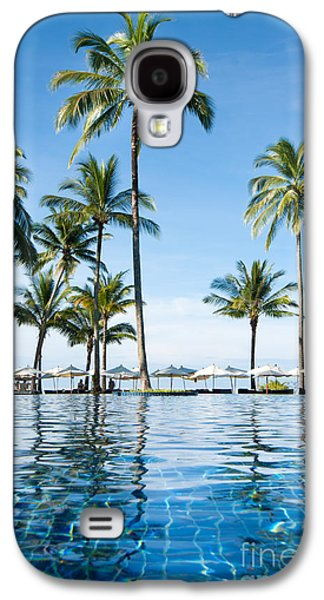 Aqua Condominiums Galaxy S4 Cases - Poolside Galaxy S4 Case by Atiketta Sangasaeng