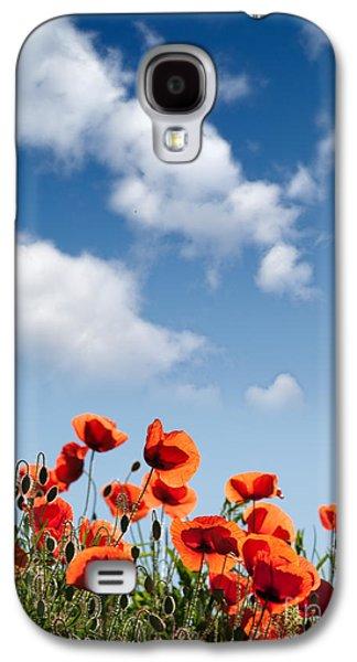 Botanical Galaxy S4 Cases - Poppy Flowers 04 Galaxy S4 Case by Nailia Schwarz