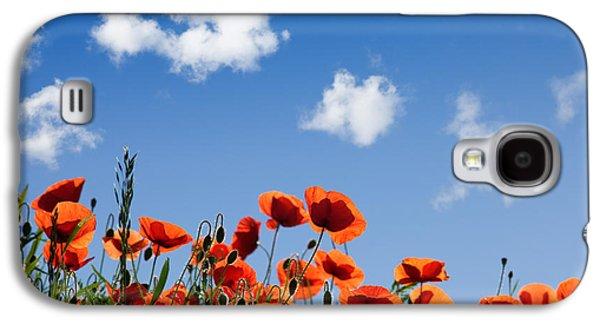 Botanical Galaxy S4 Cases - Poppy Flowers 05 Galaxy S4 Case by Nailia Schwarz