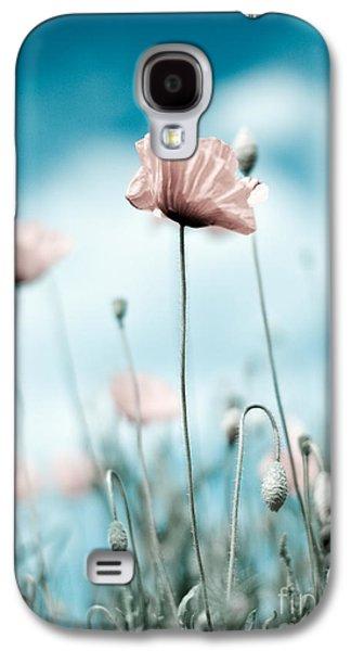Botanical Galaxy S4 Cases - Poppy Flowers 10 Galaxy S4 Case by Nailia Schwarz