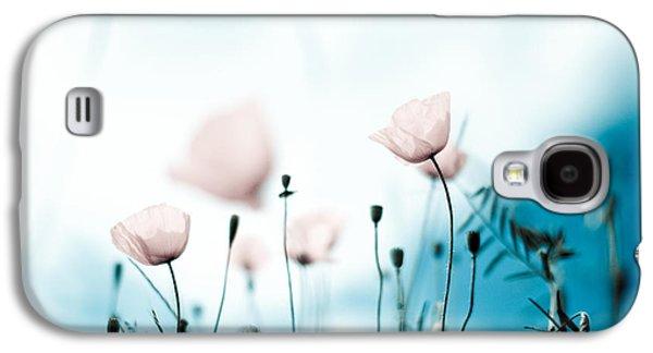 Botanical Galaxy S4 Cases - Poppy Flowers 11 Galaxy S4 Case by Nailia Schwarz