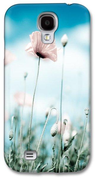 Botanical Galaxy S4 Cases - Poppy Flowers 13 Galaxy S4 Case by Nailia Schwarz