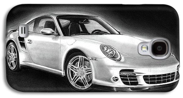 Graphite Galaxy S4 Cases - Porsche 911 Turbo    Galaxy S4 Case by Peter Piatt