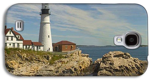 Maine Galaxy S4 Cases - Portland Head Light Panorama  Galaxy S4 Case by Mike McGlothlen