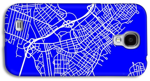 Maine Roads Galaxy S4 Cases - Portland Maine City Map Streets Art Print   Galaxy S4 Case by Keith Webber Jr