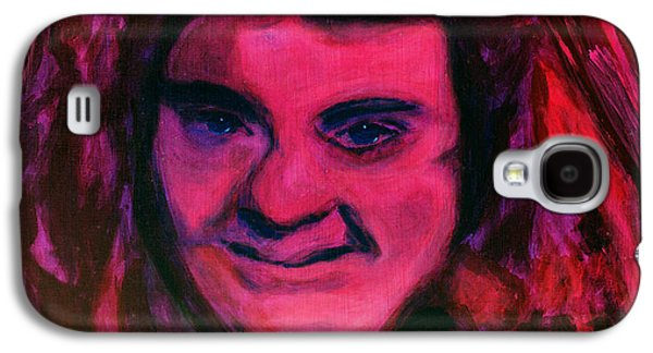 Discrimination Paintings Galaxy S4 Cases - Portrait of Jenny Friedman who never gave up. figure portrait in pink purple and blue Downs Syndrome Galaxy S4 Case by MendyZ M Zimmerman