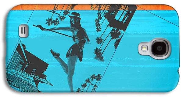 Dancing Girl Galaxy S4 Cases - Post Card from LA Galaxy S4 Case by Naxart Studio