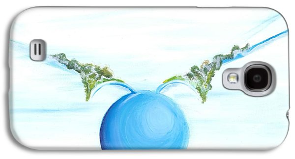 To Heal Paintings Galaxy S4 Cases - Power To Fly Galaxy S4 Case by Catt Kyriacou