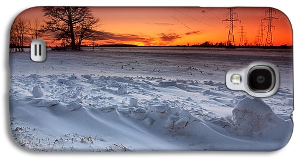 Snow Scene Galaxy S4 Cases - Powerlines in Winter Galaxy S4 Case by Cale Best