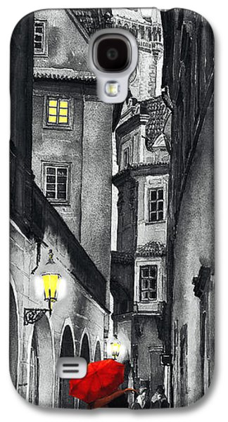 Black Digital Art Galaxy S4 Cases - Prague Love Story Galaxy S4 Case by Yuriy  Shevchuk