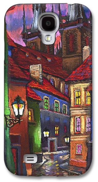 Light Pastels Galaxy S4 Cases - Prague Old Street 01 Galaxy S4 Case by Yuriy  Shevchuk