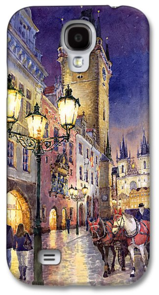 Light Galaxy S4 Cases - Prague Old Town Square 3 Galaxy S4 Case by Yuriy  Shevchuk