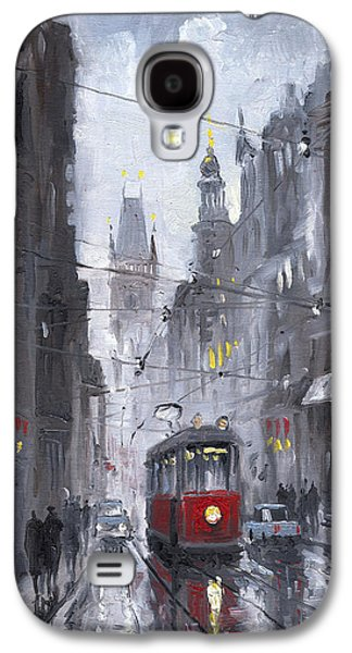Urban Street Galaxy S4 Cases - Prague Old Tram 03 Galaxy S4 Case by Yuriy  Shevchuk