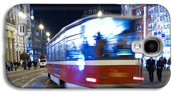 Blurred Galaxy S4 Cases - Prague tram Galaxy S4 Case by Stylianos Kleanthous