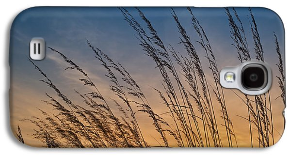 Prairie Galaxy S4 Cases - Prairie Grass Sunset Galaxy S4 Case by Steve Gadomski