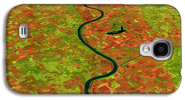 River Flooding Galaxy S4 Cases - Pre-flood Missouri River Galaxy S4 Case by Nasagoddard Space Flight Center