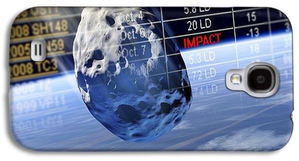 Planetoid Galaxy S4 Cases - Predicting Asteroid Impact, Artwork Galaxy S4 Case by Detlev Van Ravenswaay