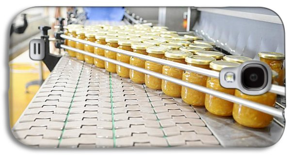 Production Line Galaxy S4 Cases - Preserve And Jam Bottling Production Line Galaxy S4 Case by Photostock-israel
