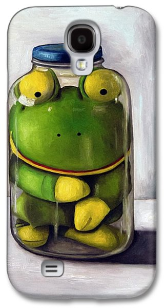 Mason Jars Galaxy S4 Cases - Preserving Childhood Galaxy S4 Case by Leah Saulnier The Painting Maniac