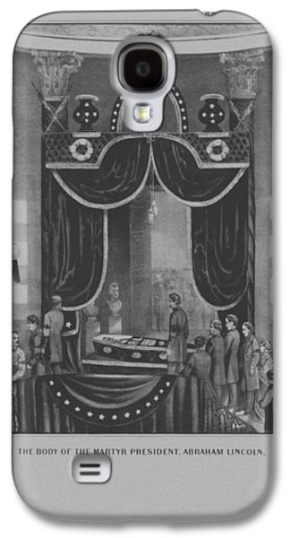 Abraham Lincoln Galaxy S4 Cases - President Abraham Lincoln Lying In State Galaxy S4 Case by War Is Hell Store
