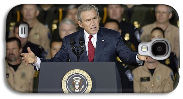 President George W. Bush Speaks Galaxy S4 Case by Stocktrek Images