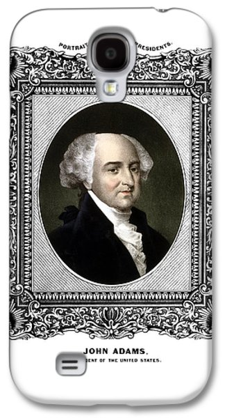 4th July Mixed Media Galaxy S4 Cases - President John Adams Portrait  Galaxy S4 Case by War Is Hell Store