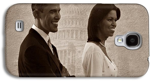 Michelle Obama Galaxy S4 Cases - President Obama and First Lady S Galaxy S4 Case by David Dehner
