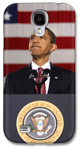 White House Galaxy S4 Cases - President Obama Galaxy S4 Case by War Is Hell Store