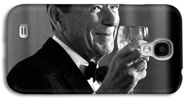 States Mixed Media Galaxy S4 Cases - President Reagan Making A Toast Galaxy S4 Case by War Is Hell Store