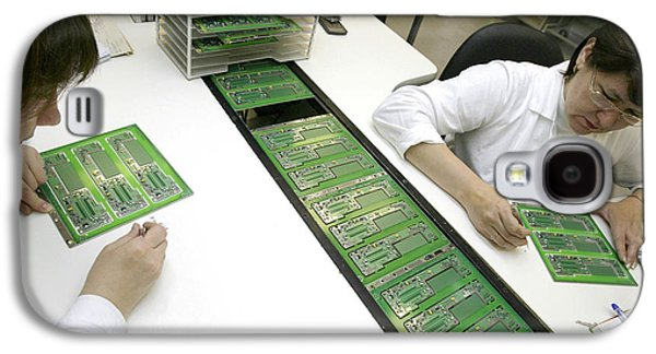 Component Photographs Galaxy S4 Cases - Printed Circuit Board Assembly Work Galaxy S4 Case by Ria Novosti