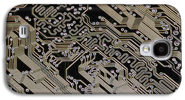 Electrical Component Photographs Galaxy S4 Cases - Printed Circuit Board, Computer Artwork Galaxy S4 Case by Pasieka