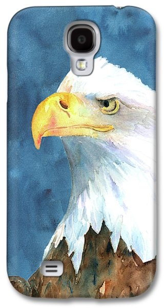 Eagle Paintings Galaxy S4 Cases - Proud Eagle Galaxy S4 Case by Arline Wagner