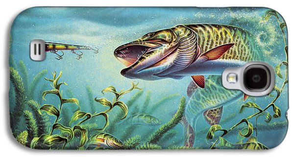 Weed Line Galaxy S4 Cases - Provoked Musky Galaxy S4 Case by Jon Q Wright