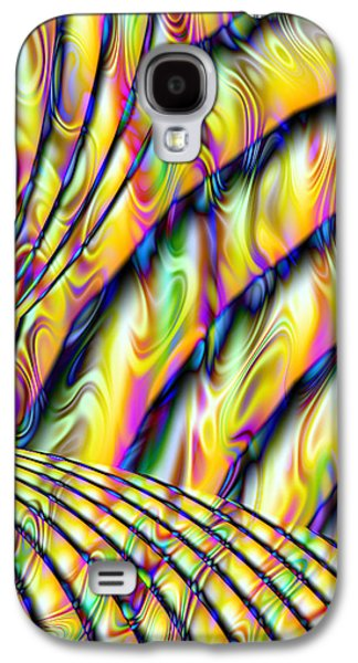 Manley Galaxy S4 Cases - Psychedelic Fractal  Galaxy S4 Case by Gina Lee Manley