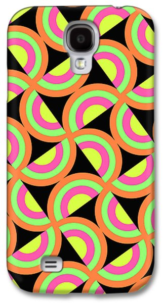 Louisa Galaxy S4 Cases - Psychedelic Squares Galaxy S4 Case by Louisa Knight