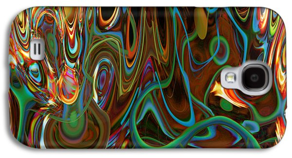 Abstract Digital Galaxy S4 Cases - Psychedelic Trip Galaxy S4 Case by Linda Sannuti