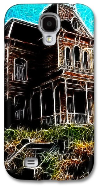 Haunted House Drawings Galaxy S4 Cases - Psycho House Galaxy S4 Case by Paul Van Scott